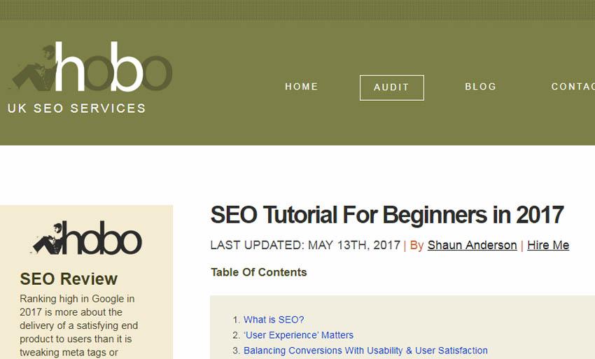 hobo web seo guide