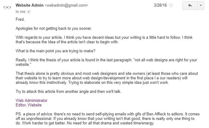 RealTalk from the Website Owner